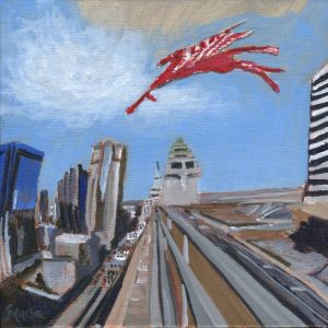 Take Flight by Sandra Mucha | Acrylic on Canvas | 6″ x 6″ /15.25cm x 15.25cm