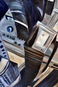 "Glass Towers by Sandra Mucha | Oil on Canvas | 48""x36""x1.5"""
